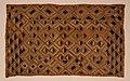 Rep. dem del congo, showa, tessuti kasai, in rafia su tela tessuta e ricamata a mano, 1910 ca. 02 (Fondazione Antonio Ratti).jpg