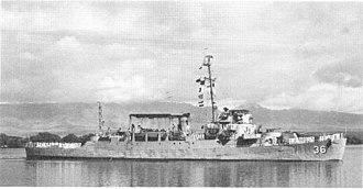 USS Bull (DE-693) - Bull in Chinese service as Lu Shan (PF-36).