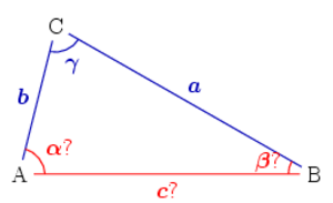 Solution of triangles - Two sides and the included angle given