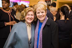 Alsop, on the right, at a charity function in Baltimore