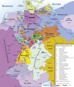 Rheinbund 1808, political map.png