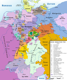 Rheinbund 1808, political map.png
