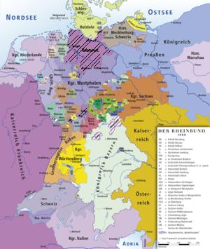 Großherzogtum Berg und andere Rheinbundstaaten im Jahre 1808
