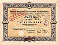 Rheinisch-Westfälisches Elektrizitätswerk stock certificate (1910).jpg