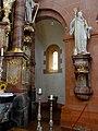 Rheinmünster, Klosterkirche Schwarzach, nördlicher Querarm, Blick in die Absidiole.jpg