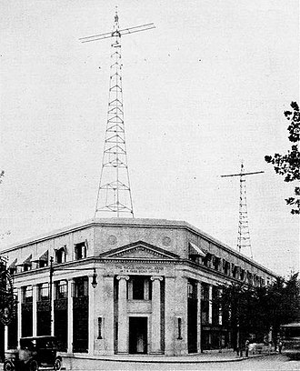 WTEM - WRC radio towers atop the Riggs Bank building (1923)