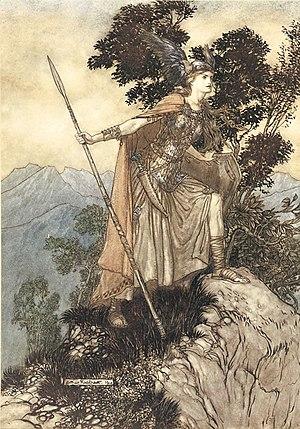 Brünnhilde the valkyrie. Illustration to Richa...