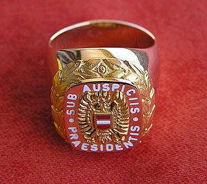 Sub auspiciis Praesidentis - The ring till October 2013