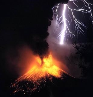 Mount Rinjani mountain in Indonesia