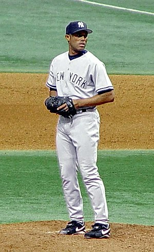Pitching position - Mariano Rivera, closer for the New York Yankees, having come set