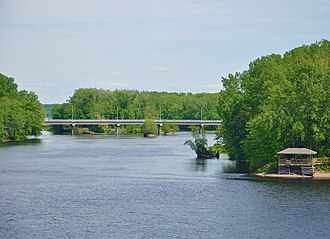 Saint-Maurice River - Saint-Maurice River in Trois-Rivières.