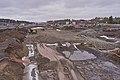 Road construction at E24 by Rudshøgda, Hedmark, Norway.jpg