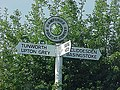 Road sign at Polecat Corner in rural Hampshire - geograph.org.uk - 412718.jpg