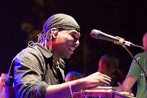Musician Robert Randolph. Taken at Emory Unive...