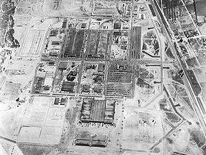 Robins Air Force Base - Aerial view of Robins Air Depot warehouses, 1943–1944