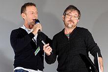 Siffredi con Rocco Tanica (a destra) degli Elio e le Storie Tese al Lucca Comics & Games nell'ottobre 2016