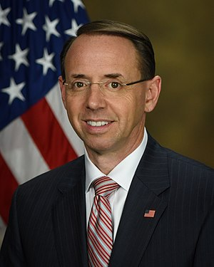 United States Deputy Attorney General - Image: Rod Rosenstein official portrait
