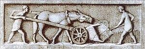 Cereal - Roman harvesting machine