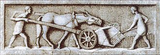 Agriculture in ancient Rome - Gallo-Roman harvesting machine