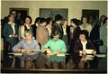 Rosalynn Carter signs resolution supporting Equal Rights Amendment. - NARA - 181975.tif
