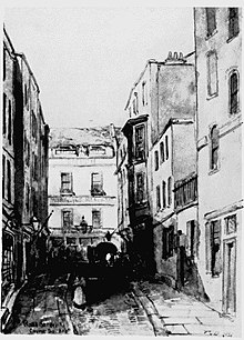 Rose Street as seen in an original sketch of 1851