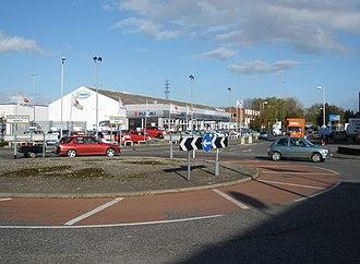 Marsh Barton - Roundabout on the Marsh Barton estate