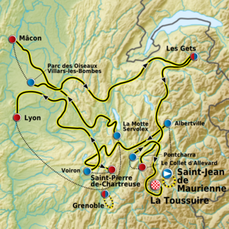 Critérium du Dauphiné - Route of the 2011 race