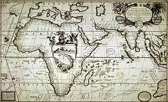 St. Brandon - Maritime Route Brest to Siam 1686 by Vincenzo Coronelli