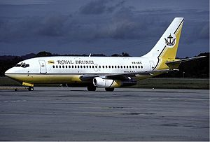 Royal Brunei Airlines - Boeing 737-200 of Royal Brunei in 1987.