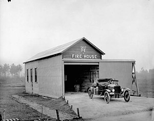 CFB Borden - Royal Canadian Air Force fire house, Camp Borden, Ontario