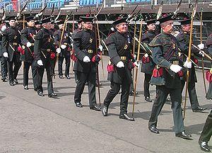 Royal Company of Archers - The Royal Company of Archers outside Edinburgh Castle