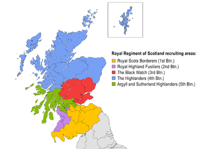 Royal Regiment of Scotland recruiting areas