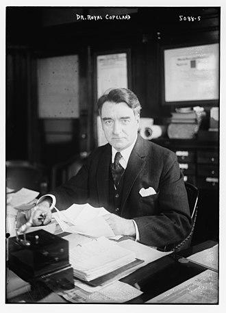 Royal S. Copeland - Copeland in 1920