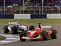 Rubens Barrichello and Juan Pablo Montoya 2003 Silverstone.jpg