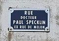 Rue Docteur-Paul-Specklin (Belley), panneau de rue.jpg