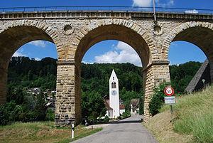 Rümlingen - Image: Ruemlingen preghejo kaj viadukto 226