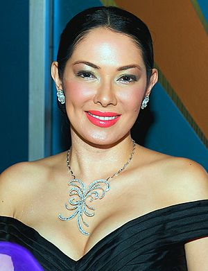 Ruffa Gutierrez - Gutierrez on her birthday party at the CBS Studios in California, June 2009