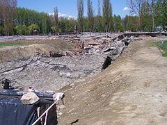 Ruin of the gas chamber of Crematorium II
