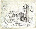 Ruine Halbenstein bei Lochau 1842 Bildbeschriftung.jpg