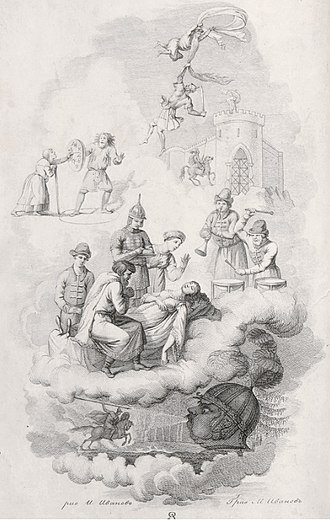 Ruslan and Ludmila - Frontispiece of the 1st edition of 1820