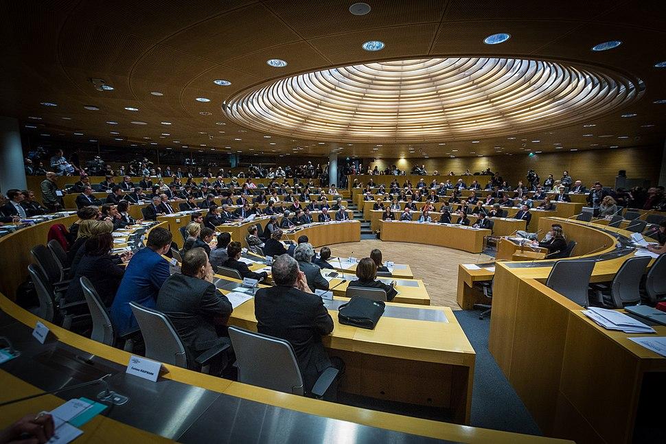 Séance plénière inaugurale conseil région ACAL 4 janvier 2016