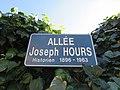 Sérézin-du-Rhône - Allée Joseph Hours - Plaque (avr 2019).jpg