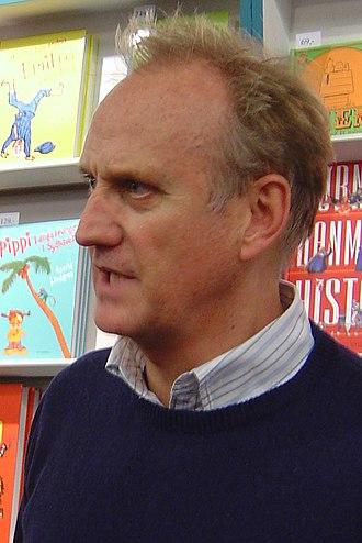 Søren Pilmark - Søren Pilmark being interviewed during the book fair BogForum at Forum Copenhagen in 2008.