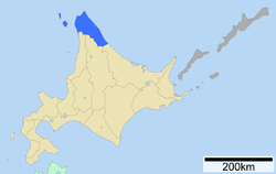 Location of Sōya Subprefecture
