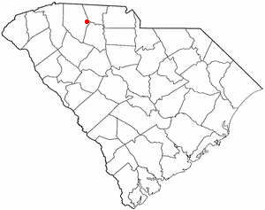 Central Pacolet, South Carolina - Image: SC Map doton Pacolet
