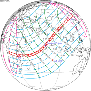 Solar eclipse of February 17, 2064