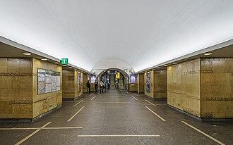 Gorkovskaya (Saint Petersburg Metro) - Image: SPB Gorkovskaya metro station asv 2018 07