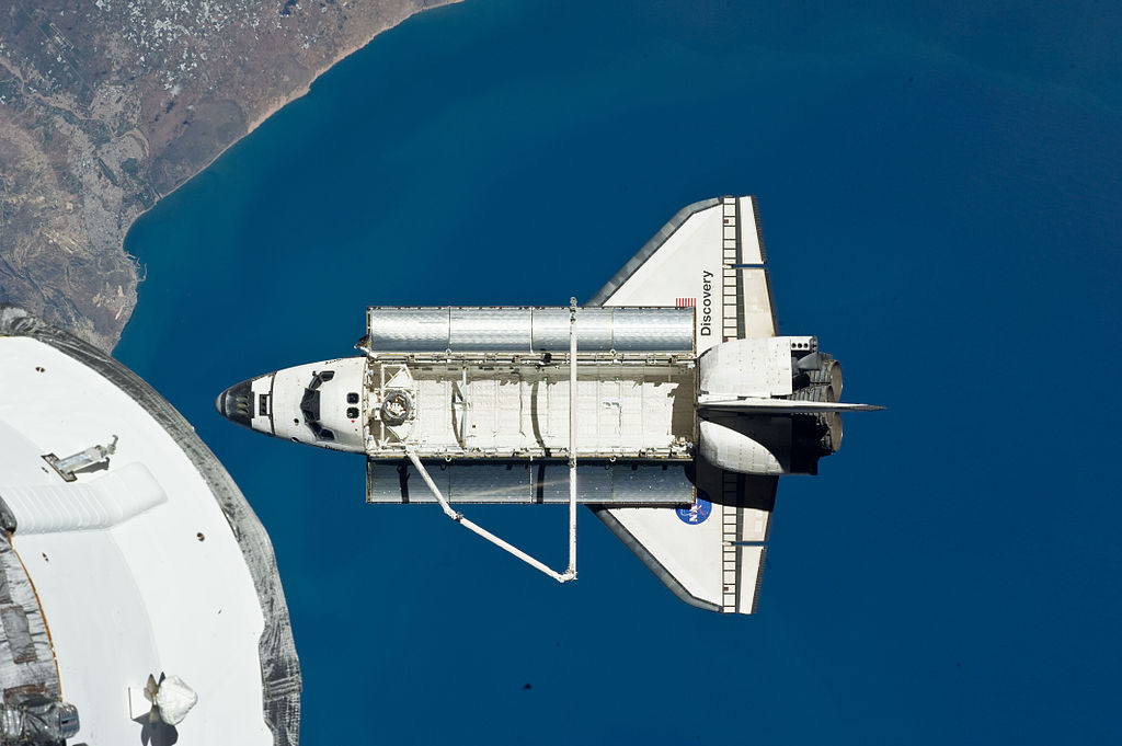 File:STS-133 Space Shuttle Discovery after undocking 1.jpg ...