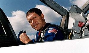 Michael A. Baker - Baker in a NASA T-38 jet