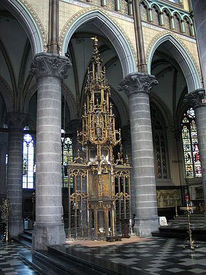 Church tabernacle - The ornate tabernacle in St Martin's church, Kortrijk, Belgium